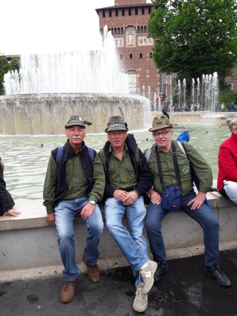 Parte del Gruppo al Castello Sforzesco