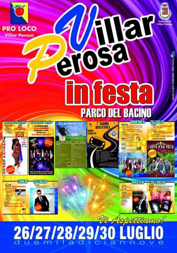 Locandina festa Villar Perosa