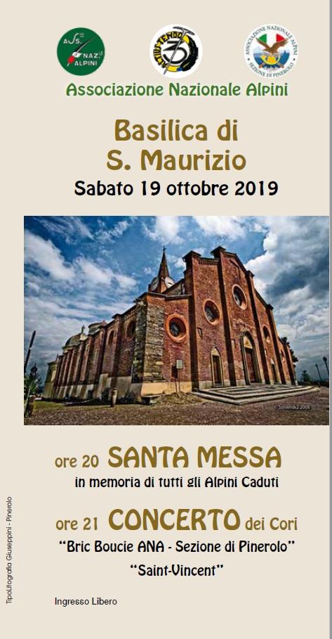 Frontespizio locandina Concerto S.Maurizio