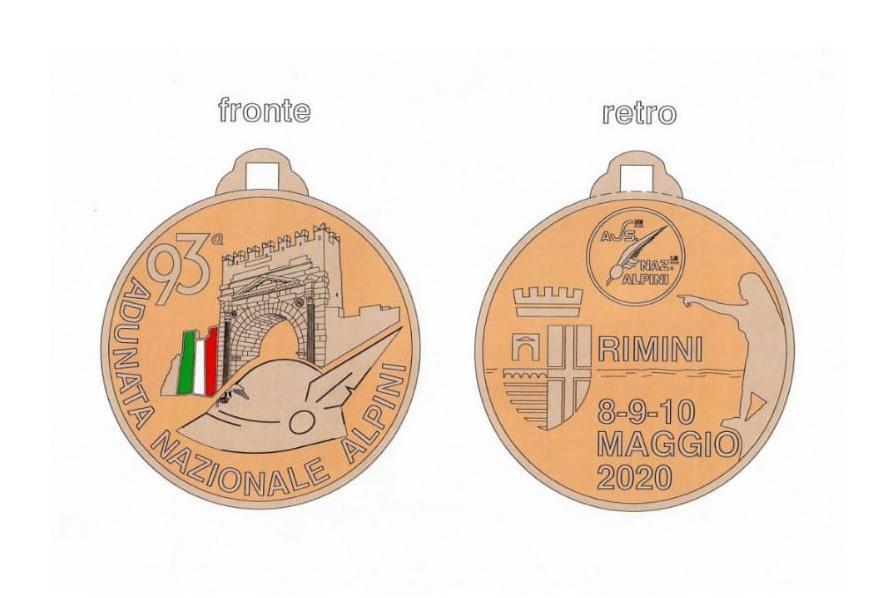 Medaglia Commemorativa Rimini 2020