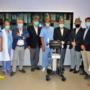 Consegna ecografo all'Ospedale Agnelli