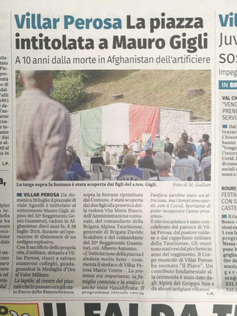 Articolo Piazza Mauro Gigli Eco del Chisone